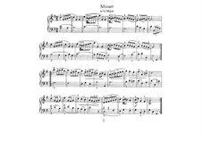 No.4 Minuet in G Major, BWV Anh.114: For piano by Johann Sebastian Bach
