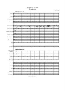Symphony No.39 in G major: Symphony No.39 in G major by Jordan Grigg