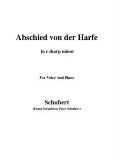 Abschied von der Harfe (Farewell to the Harp), D.406: C sharp minor by Franz Schubert