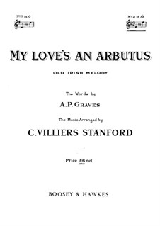 My Love's an Arbutus: For voice and piano (A Flat Major) by folklore