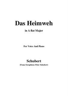 Das Heimweh (Homesickness), D.456: A flat Major by Franz Schubert