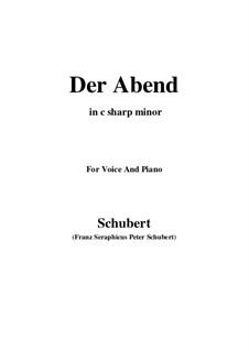 Der Abend (The Evening), D.108: C sharp minor by Franz Schubert