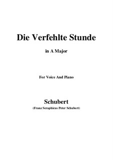 Die verfehlte Stunde (Unsuccessful Hour), D.409: A Major by Franz Schubert