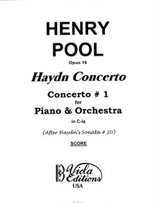 Sonata for Piano No.33 in C Minor, Hob.XVI/20: Version for piano and orchestra, Op.16 by Joseph Haydn