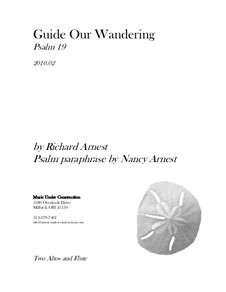 Guide Our Wandering: Study score by Richard Arnest