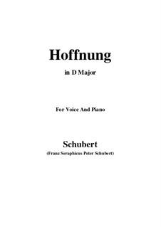 Hoffnung (Hope), D.295: D Major by Franz Schubert