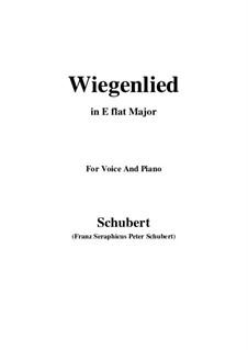 Wiegenlied (Cradle Song), D.304: E flat Major by Franz Schubert