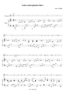 Teach Me Thy Way, O Lord: For clarinet and piano by Benjamin M. Ramsey