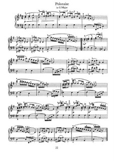 No.28 Polonaise in G Major, BWV Anh.130: For piano by Johann Sebastian Bach