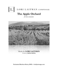 The Apple Orchard: Bass and piano version (priced for 2 copies) by Lori Laitman