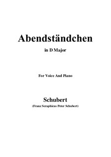 Abendständchen. An Lina (Evening Serenade. To Lina), D.265: D Major by Franz Schubert