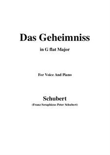 Das Geheimnis (The Secret), D.793 Op.173 No.2: G flat Major by Franz Schubert