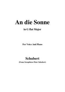 An die Sonne (To the Sun), D.270 Op.118 No.5: G flat Major by Franz Schubert