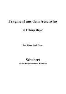 Fragment from Aeschylus, D.450: F sharp Major by Franz Schubert