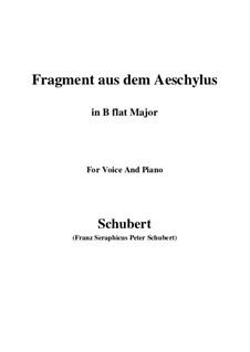 Fragment from Aeschylus, D.450: B flat Major by Franz Schubert