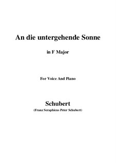 Im Haine (In the Wood), D.738 Op.56 No.3: For voice and piano (B Major) by Franz Schubert