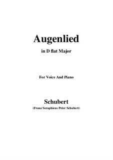 Augenlied (Song of the Eyes), D.297: D flat Major by Franz Schubert