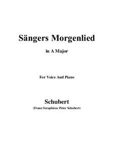 Sängers Morgenlied (The Minstrel's Morning Song), D.165: A Major by Franz Schubert