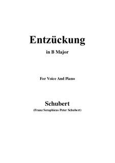 Entzückung (Rapture), D.413: B Major by Franz Schubert