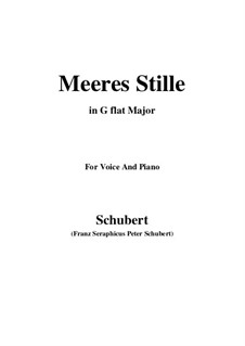 Meeres Stille (Calm at Sea), D.216 Op.3 No.2: For voice and piano (G flat Major) by Franz Schubert