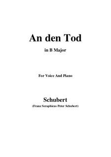 An den Tod (To Death), D.518: B Major by Franz Schubert
