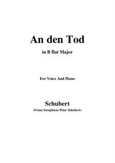 An den Tod (To Death), D.518: B flat Major by Franz Schubert