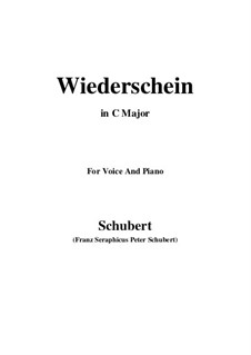 Wiederschein, D.639: C Major by Franz Schubert