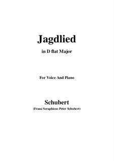 Jagdlied (Hunting Song), D.521: C Major by Franz Schubert