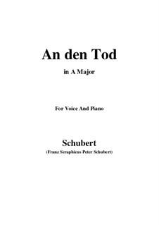 An den Tod (To Death), D.518: A Major by Franz Schubert