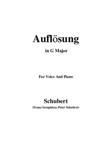 Auflösung (Dissolution), D.807: G Major by Franz Schubert