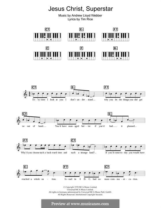 Superstar: Melody line by Andrew Lloyd Webber