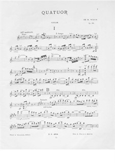 Piano Quartet in A Minor, Op.66: Violin part by Charles-Marie Widor