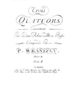 Six String Quartets, Op.10: Quartets No.1-3 – parts by Paul Wranitzky