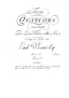 Six String Quartets, Op.10: Quartets No.4-6 – parts by Paul Wranitzky