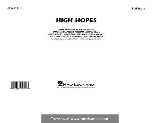 High Hopes (Panic! At The Disco): Conductor Score (full score) by Brendon Urie, Jonas Jeberg, Sam Hollander, Jacob Sinclair, William Lobban-Bean