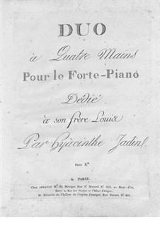 Duo for Piano Four Hands: Duo for Piano Four Hands by Hyacinthe Jadin