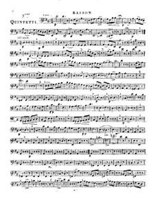 Woodwind Quintet in D Major, Op.91 No.3: Bassoon part by Anton Reicha