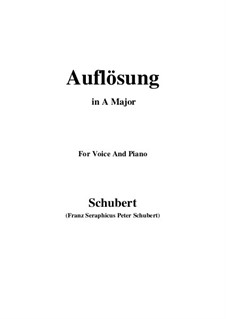 Auflösung (Dissolution), D.807: A Major by Franz Schubert
