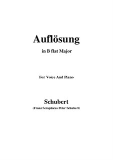 Auflösung (Dissolution), D.807: B flat Major by Franz Schubert