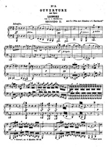 Leonore. Overture No.3, Op.72b: Version for two pianos eight hands – piano II part by Ludwig van Beethoven