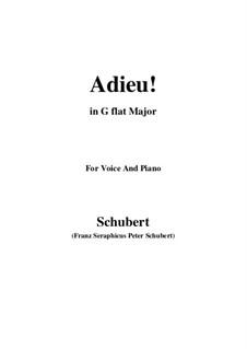 Adieu! 'Tis Love's Last Greeting: G flat Major by Franz Schubert