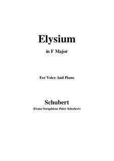 Elysium, D.584: F Major by Franz Schubert