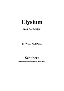 Elysium, D.584: A flat Major by Franz Schubert