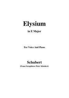 Elysium, D.584: E Major by Franz Schubert