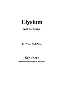 Elysium, D.584: D flat Major by Franz Schubert