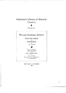 Selected Pieces for Piano: Volume I by William Sterndale Bennett