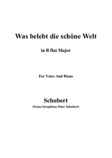 Die Zauberharfe (The Magic Harp), D.644: Was belebt die schöne Welt (B flat Major) by Franz Schubert