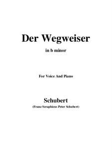 No.20 Der Wegweiser (The Signpost): For voice and piano (b minor) by Franz Schubert