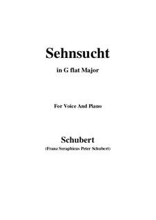 Sehnsucht (Longing), D.123: G flat Major by Franz Schubert