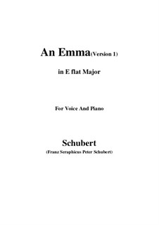 An Emma, D.113 Op.58 No.2: First edition (E flat Major) by Franz Schubert